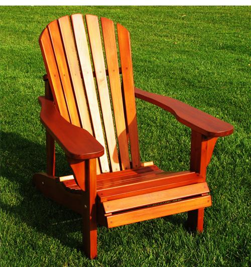 Chaises adirondack et meubles d 39 ext rieur en bois de c dre for Chaise adirondack bois