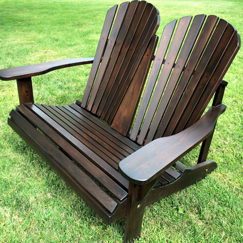 double adirondack chair 0102 cedtek. Black Bedroom Furniture Sets. Home Design Ideas