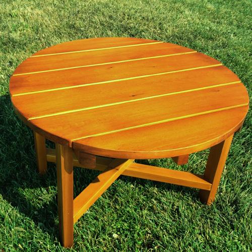Round Table Orange.Low Round Table 28 0928s